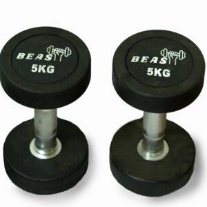5kg unisex rubber dumbbell