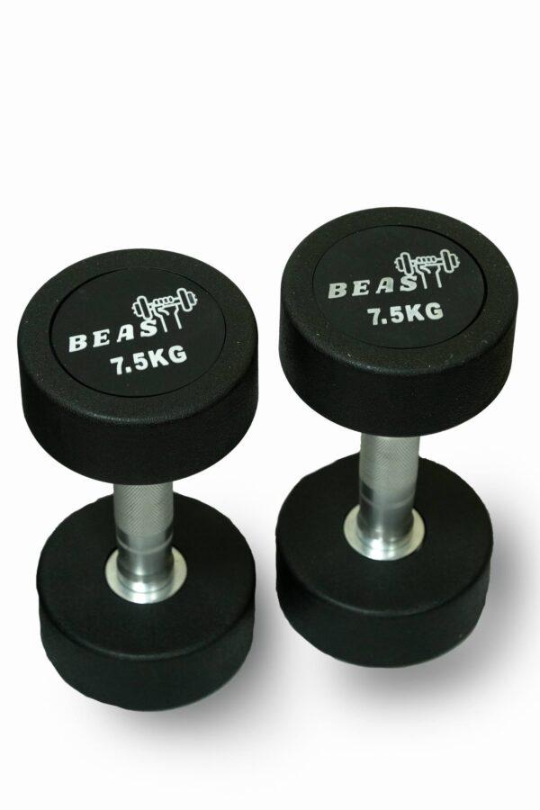 7.5kg unisex rubber dumbbell